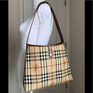 Burberry vintage haymarket check shoulder bag